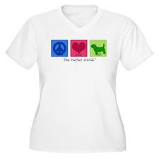 Peace Love PBGV T-Shirt