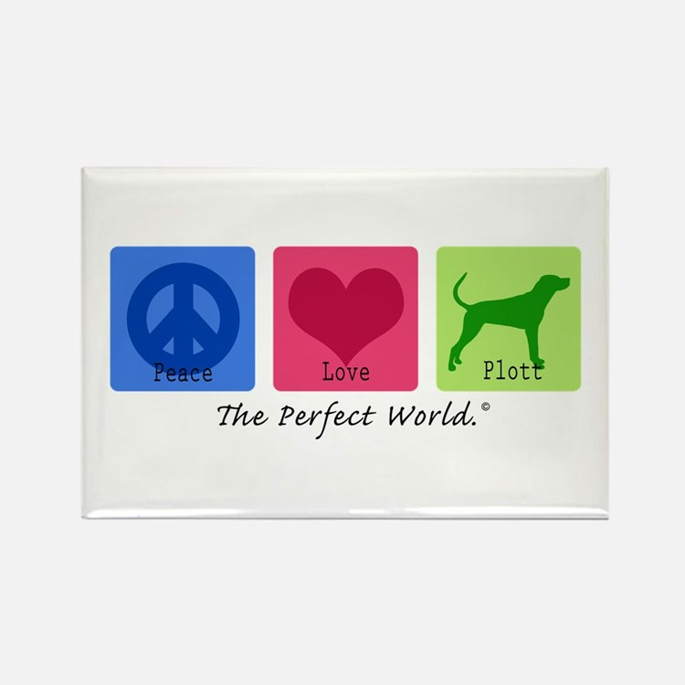 Peace Love Plott Rectangle Magnet