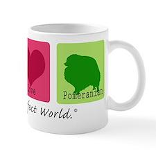 Peace Love Pomeranian Mug