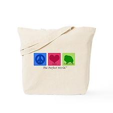 Peace Love Pomeranian Tote Bag