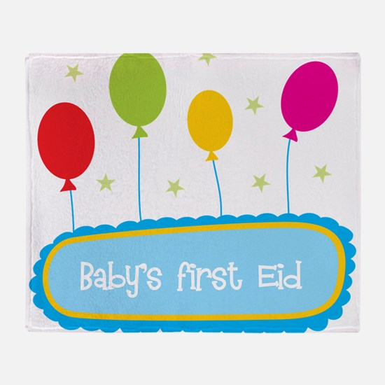 Baby's First Eid Throw Blanket