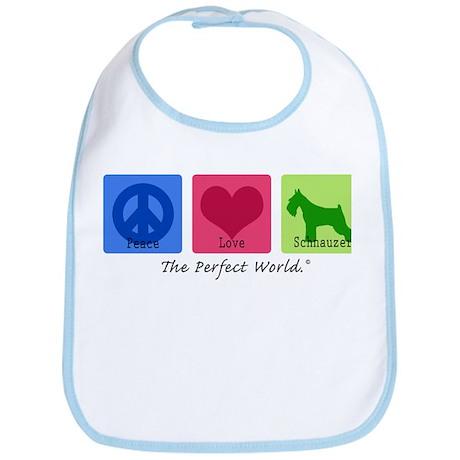 Peace Love Schnauzer Bib