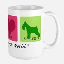 Peace Love Schnauzer Large Mug