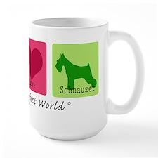 Peace Love Schnauzer Mug