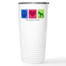 Peace Love Schnauzer Thermos Mug