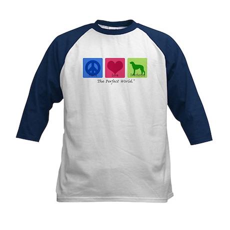 Peace Love Deerhound Kids Baseball Jersey