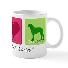 Peace Love Deerhound Mug
