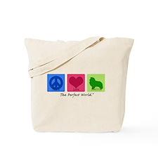 Peace Love Sheltie Tote Bag