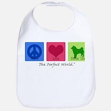 Peace Love Shiba Inu Bib