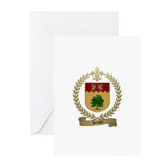 HERPIN Family Crest Greeting Cards (Pk of 10)