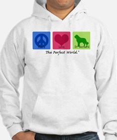 Peace Love St Bernard Jumper Hoody