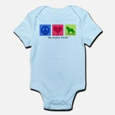 Peace Love St Bernard Infant Bodysuit
