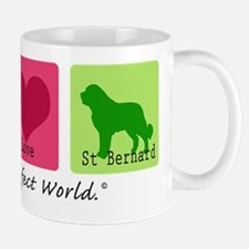 Peace Love St Bernard Mug