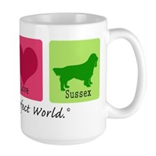 Peace Love Sussex Mug