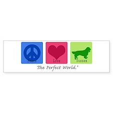 Peace Love Sussex Bumper Bumper Sticker