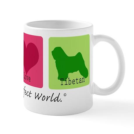 Peace Love Tibetan Mug