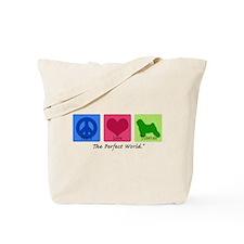 Peace Love Tibetan Tote Bag