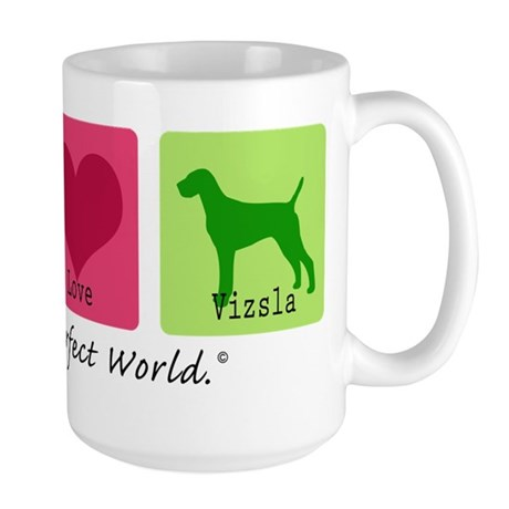 Peace Love Vizsla Large Mug