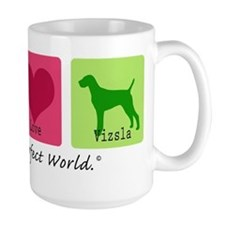 Peace Love Vizsla Mug