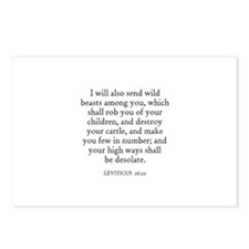 LEVITICUS  26:22 Postcards (Package of 8)