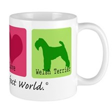 Peace Love Welsh Terrier Mug