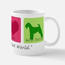 Peace Love Welsh Terrier Mug