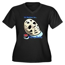 Rather Be Playing Hockey Women's Plus Size V-Neck