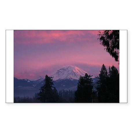 Mt Rainier Rectangle Sticker