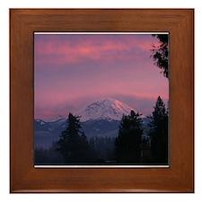 Mt Rainier Framed Tile