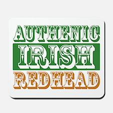Authentic Irish Redhead Mousepad