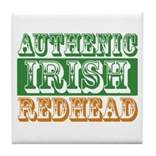 Authentic Irish Redhead Tile Coaster