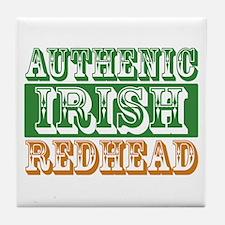 Authentic Irish Redhead Tile Coaster