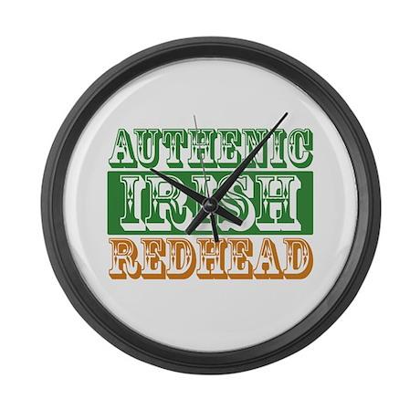Authentic Irish Redhead Large Wall Clock