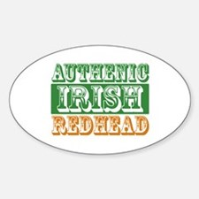 Authentic Irish Redhead Oval Decal