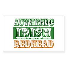 Authentic Irish Redhead Rectangle Decal