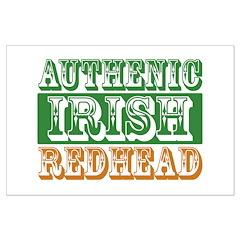 Authentic Irish Redhead Posters