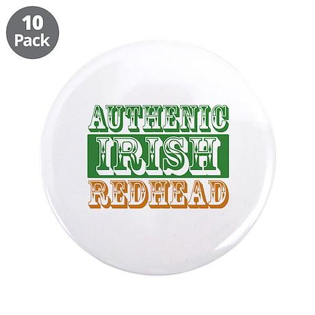 "Authentic Irish Redhead 3.5"" Button (10 pack)"