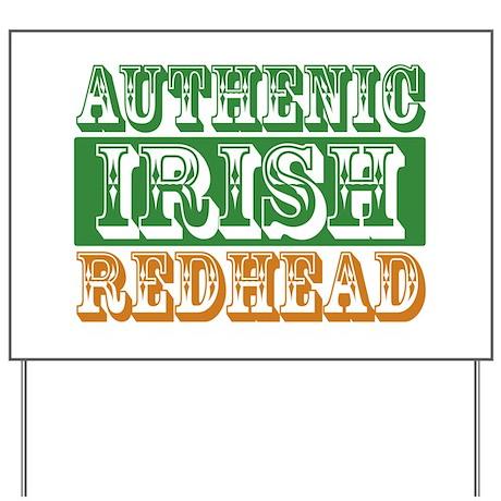 Authentic Irish Redhead Yard Sign