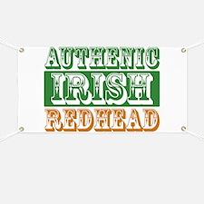 Authentic Irish Redhead Banner