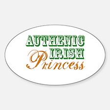 Authentic Irish Princess Oval Decal