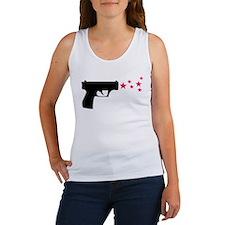 black pistol 9mm star gun Women's Tank Top