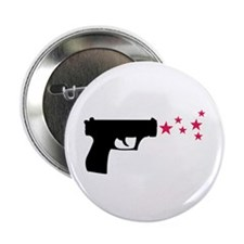 "black pistol 9mm star gun 2.25"" Button"