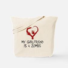 Zombie Romance Tote Bag
