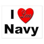I Love Navy Small Poster