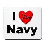 I Love Navy Mousepad