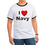 I Love Navy (Front) Ringer T