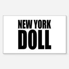 New York Doll Rectangle Decal