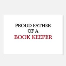 Proud Father Of A BOOK KEEPER Postcards (Package o
