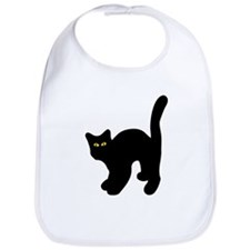black tomcat cat logo Bib