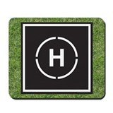 Helicopter landing pad mouse pad Mouse Pads